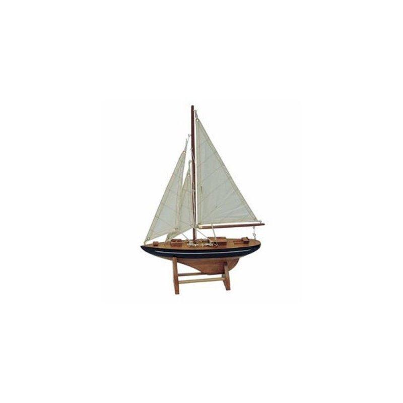 Kleine Segelyacht J Klasse Yacht G4159 Modellboot mit Haupt und zwei Vorsegel