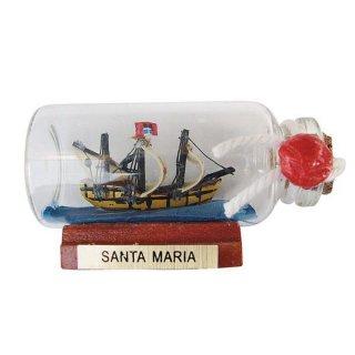 """maritime Deko G4227 Flaschenschiff 10 cm Buddelschiff /""""Schiff mit Leuchtturm/"""""""