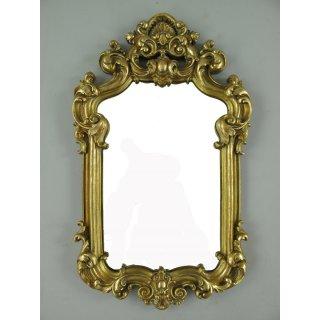 Wandspiegel aus Eisen Spiegel altweiß-goldfarben