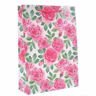 Zwei Rosen Blüten auf Briefpapier Servietten 20 Stück Barock Motiv 33x33 cm