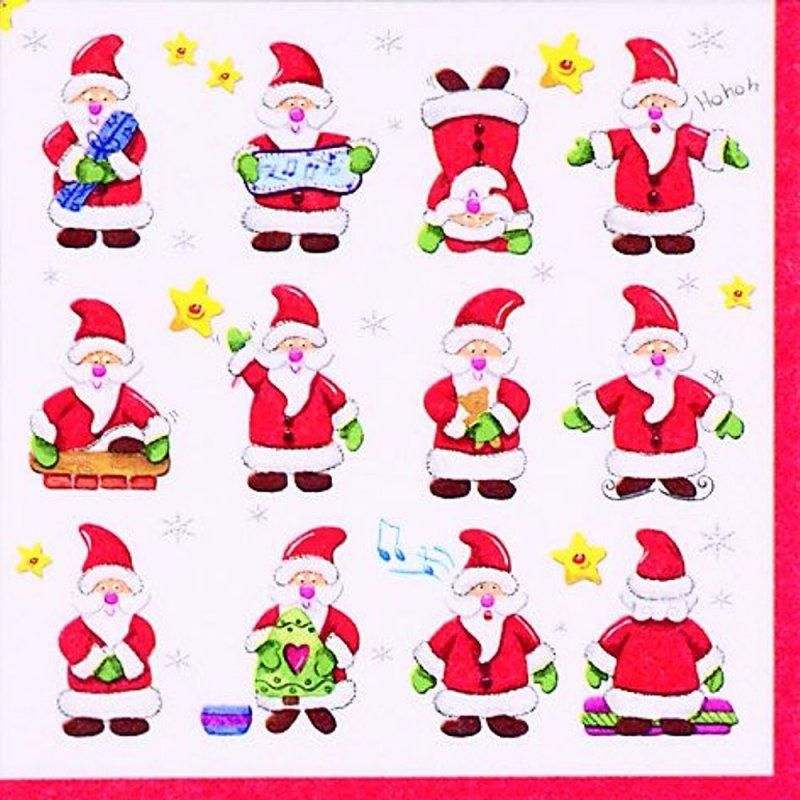 40 St/ück Servietten Weihnachtsmotiv 3-lagig 33x33 cm Frohe Weihnachten Christkind Frohes Fest Tischdekoration Ich glaub noch ans Christkind