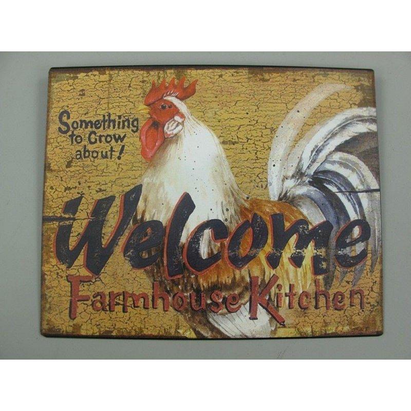 Blechschild Kneipen Wandschild 33x25 cm Huhn La Poule Reklameschild