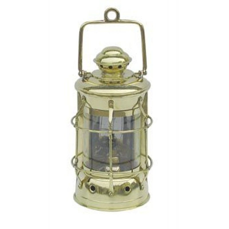 Nelson Lampe, Maritime Lampe, Petroleum Lampe, Schiffslaterne Messing