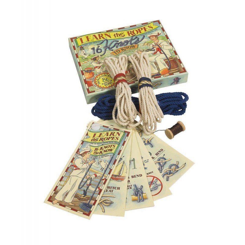 G550 Die kleine Knotenschule lerne Deine Seemannsknoten Antikes Nautic Spiel